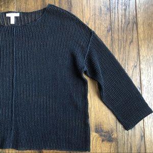 Eileen Fisher Black Knit Long sleeve Sweater. Sz S